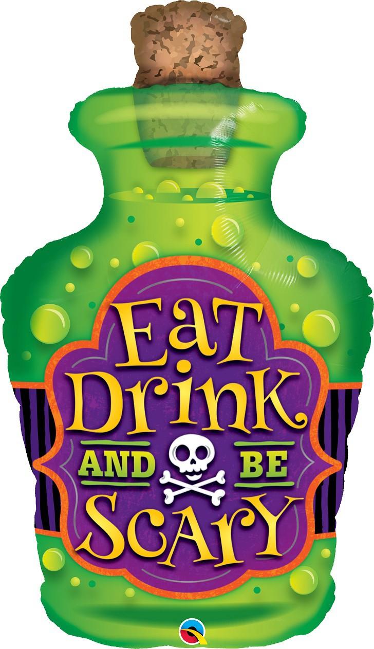 BALÃO METALIZADO EAT, DRINK AND BE SCARY - 40 POLEGADAS - QUALATEX   #44201