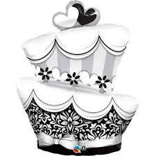 BALÃO METALIZADO - FUN E FABULOUS WEDDING CAKE - 41 POLEGADAS - QUALATEX #17096