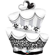BALÃO METALIZADO - FUN E FABULOUS WEDDING CAKE - 41 POLEGADAS - QUALATEX #17096