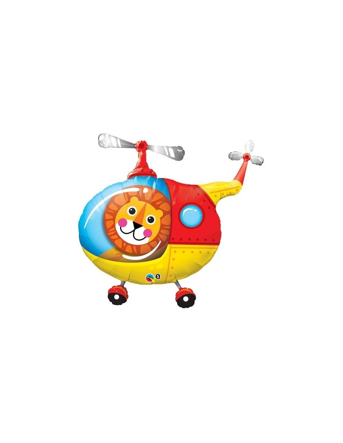 BALÃO METALIZADO - LION HELICOPTER PILOT - 35 POLEGADAS - QUALATEX #25266