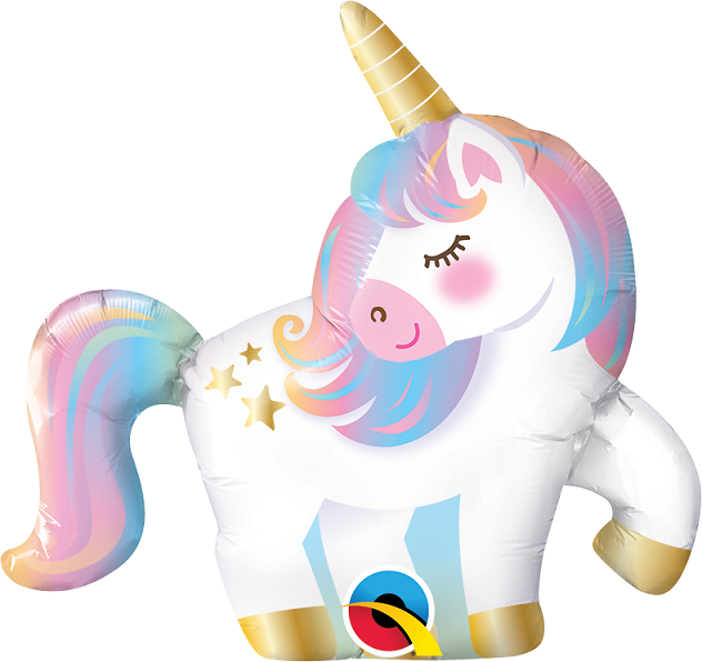 BALAO METALIZADO MINI UNICORNIO 14 POLEGADAS QUALATEX #10470