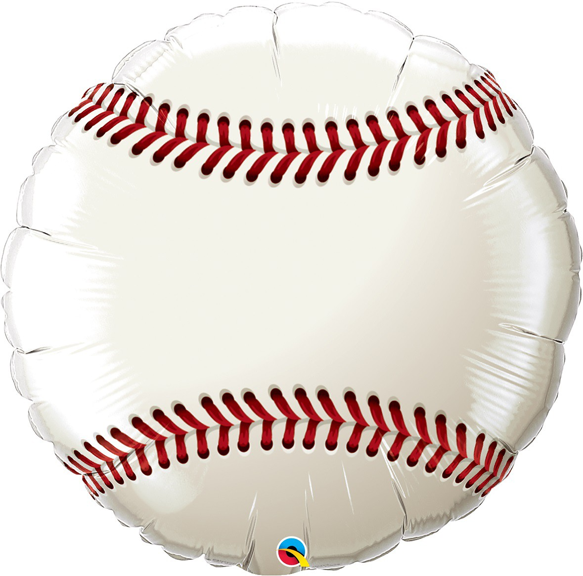 BALÃO METALIZADO REDONDO BASEBALL - 18 POLEGADAS - QUALATEX  #71603