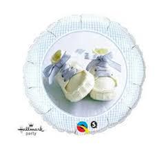BALÃO METALIZADO REDONDO BLUE BABY BOY - 18 POLEGADAS - QUALATEX #81835