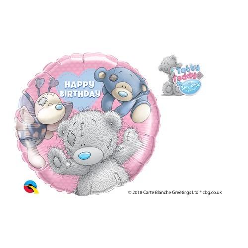 BALÃO METALIZADO REDONDO BLUE NOSE FRIENDS BIRTHDAY - 18 POLEGADAS - QUALATEX #20723