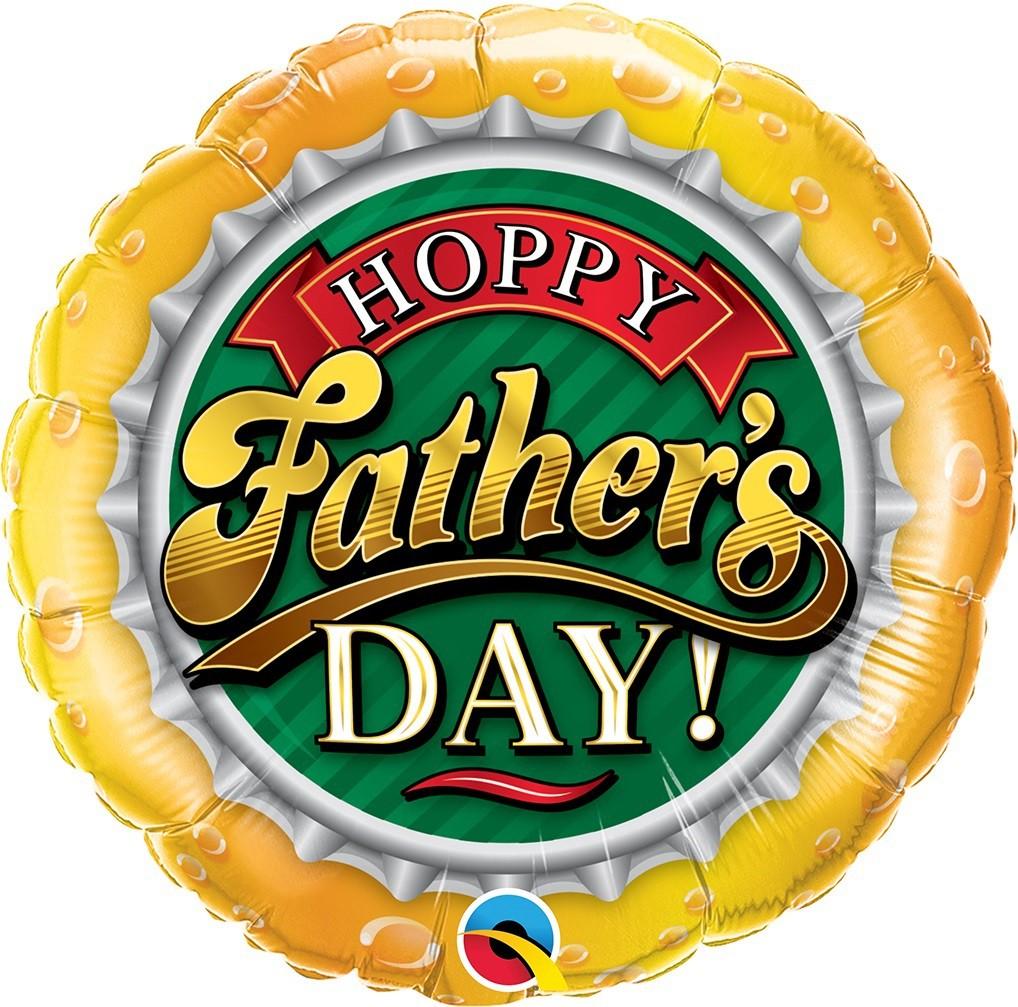 BALÃO METALIZADO REDONDO HAPPY FATHER'S DAY! 18 POLEGADAS - QUALATEX #82297