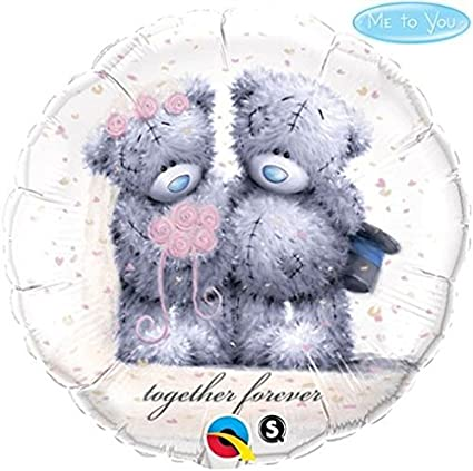 BALÃO METALIZADO REDONDO ME TO YOU - TATTY TEDDY TOGETHER FOREVER  - 18 POLEGADAS - QUALATEX #	20794
