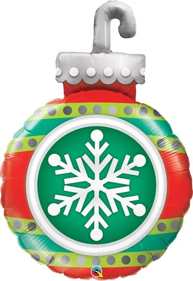 BALÃO METALIZADO SNOWFLAKE ORNAMENT 35 POLEGADAS - QUALATEX #52940