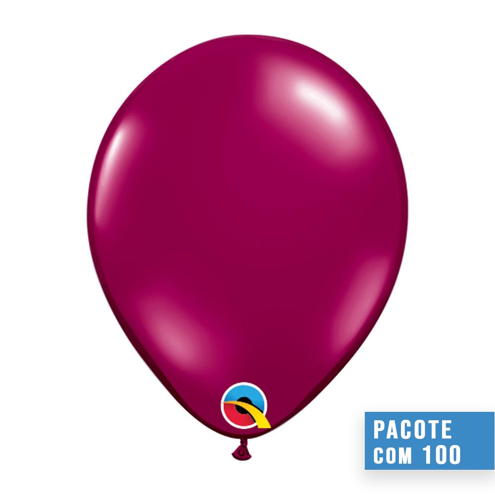 BALÃO VINHO CRISTAL JOIA 11 POLEGADAS PC100 QUALATEX #43739
