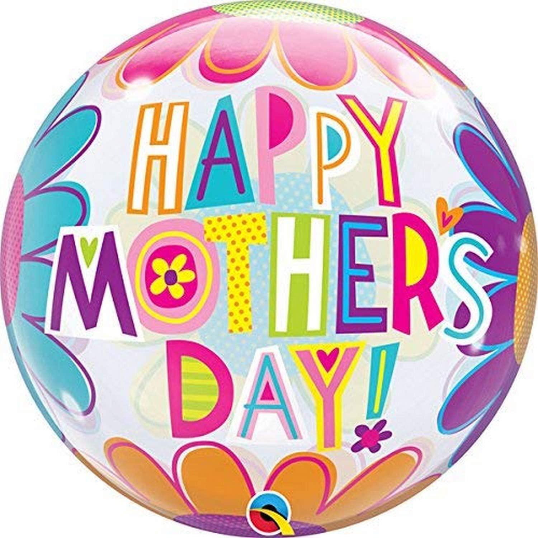 BUQUE HAPPY MOTHER DAY BUBBLE COM FLORES