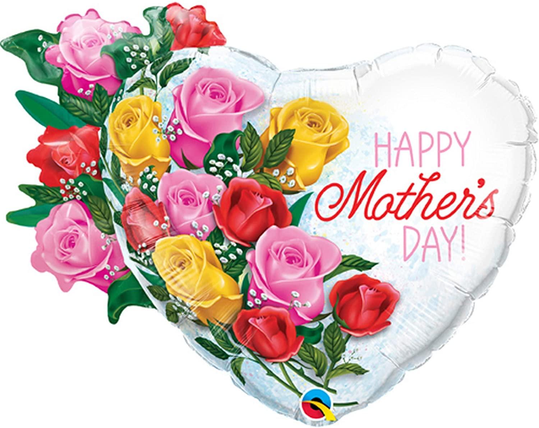 BUQUE HAPPY MOTHER DAY CORAÇÃO COM FLORES