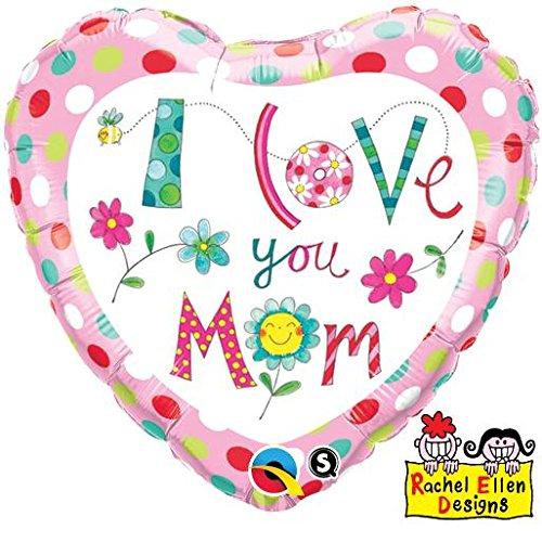 BUQUE I LOVE YOU MOM CORAÇÃO COM FLORES