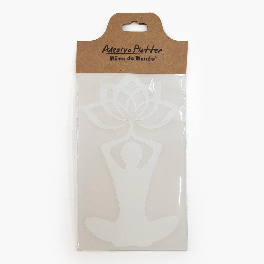 Adesivo Yoga Flor de Lótus - Foto 2