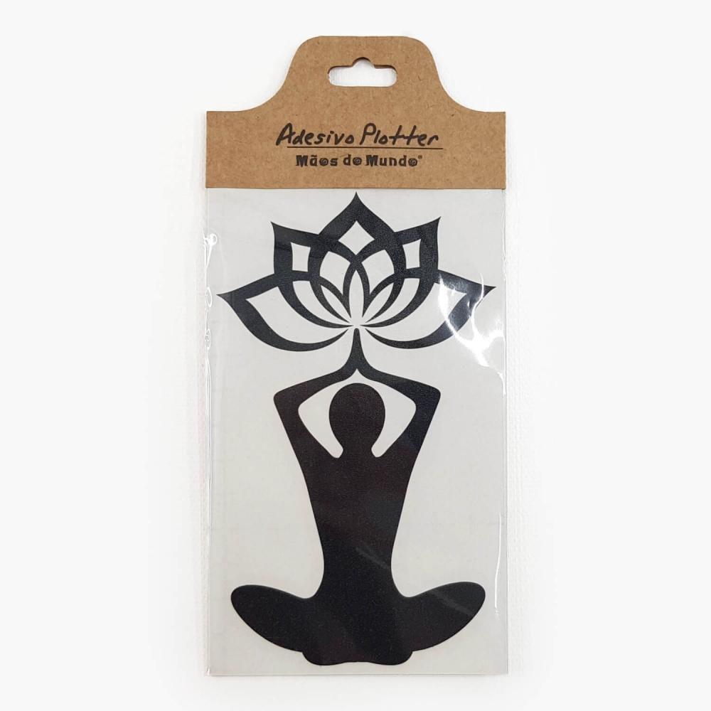 Adesivo Yoga Flor de Lótus - Foto 3