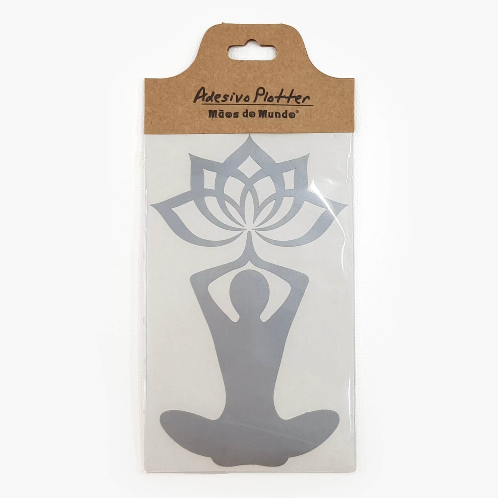 Adesivo Yoga Flor de Lótus - Foto 4