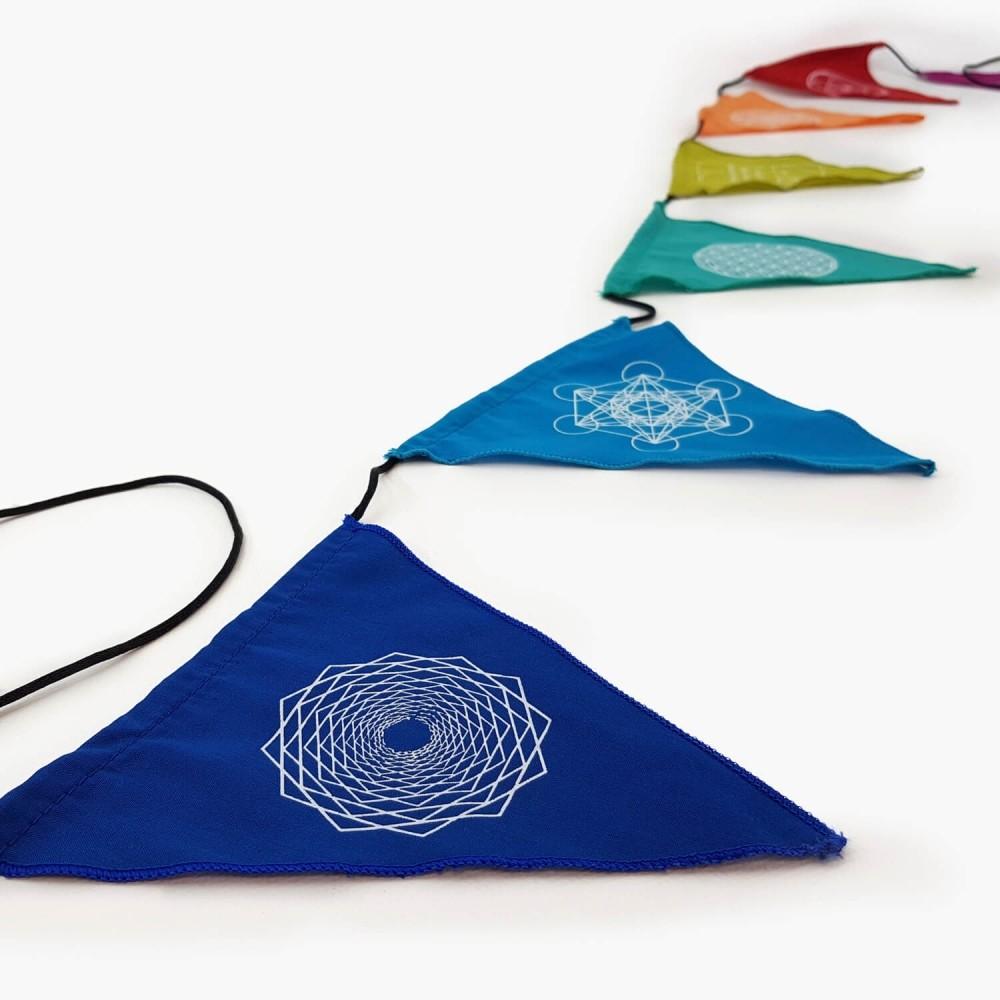 Bandeiras de Oração - Geometria - Foto 1