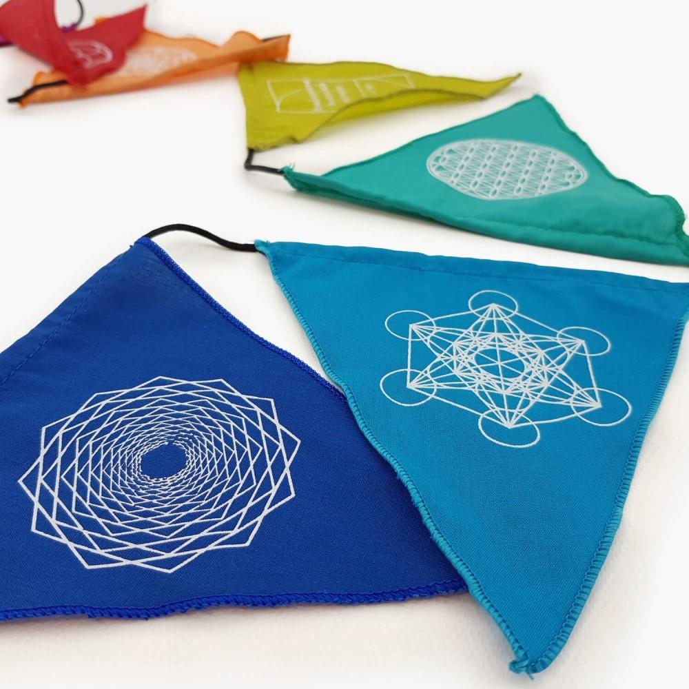 Bandeiras de Oração - Geometria - Foto 3