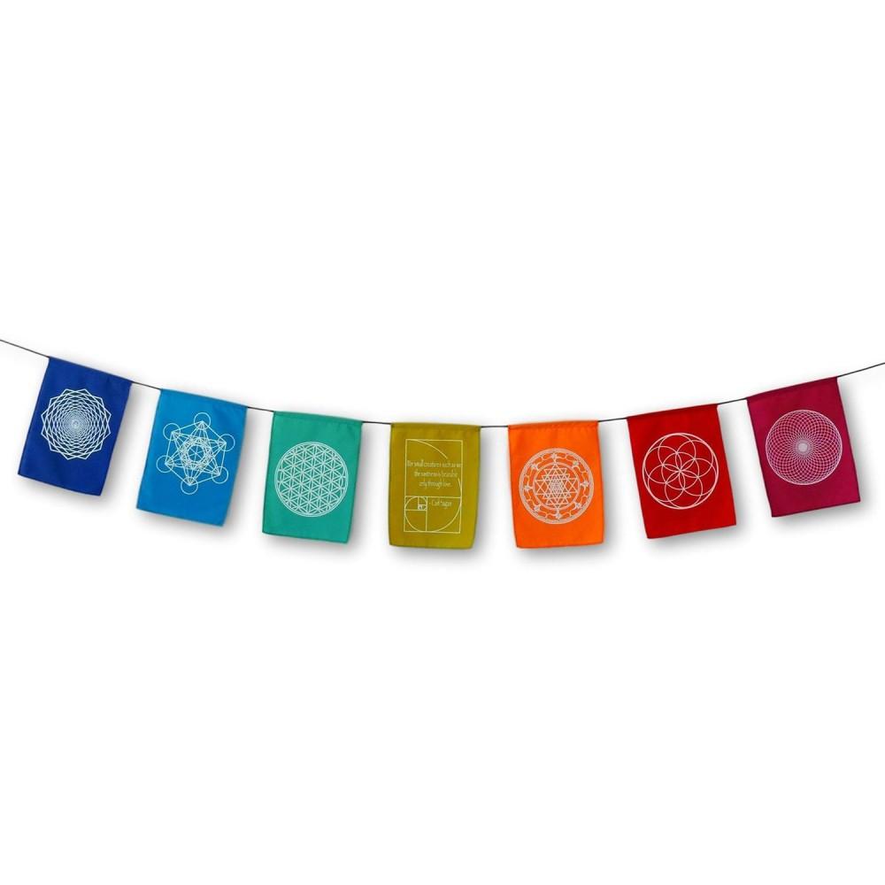 Bandeiras de Oração - Mandalas - Foto 2
