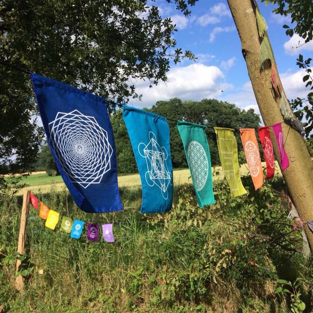 Bandeiras de Oração - Mandalas - Foto 4