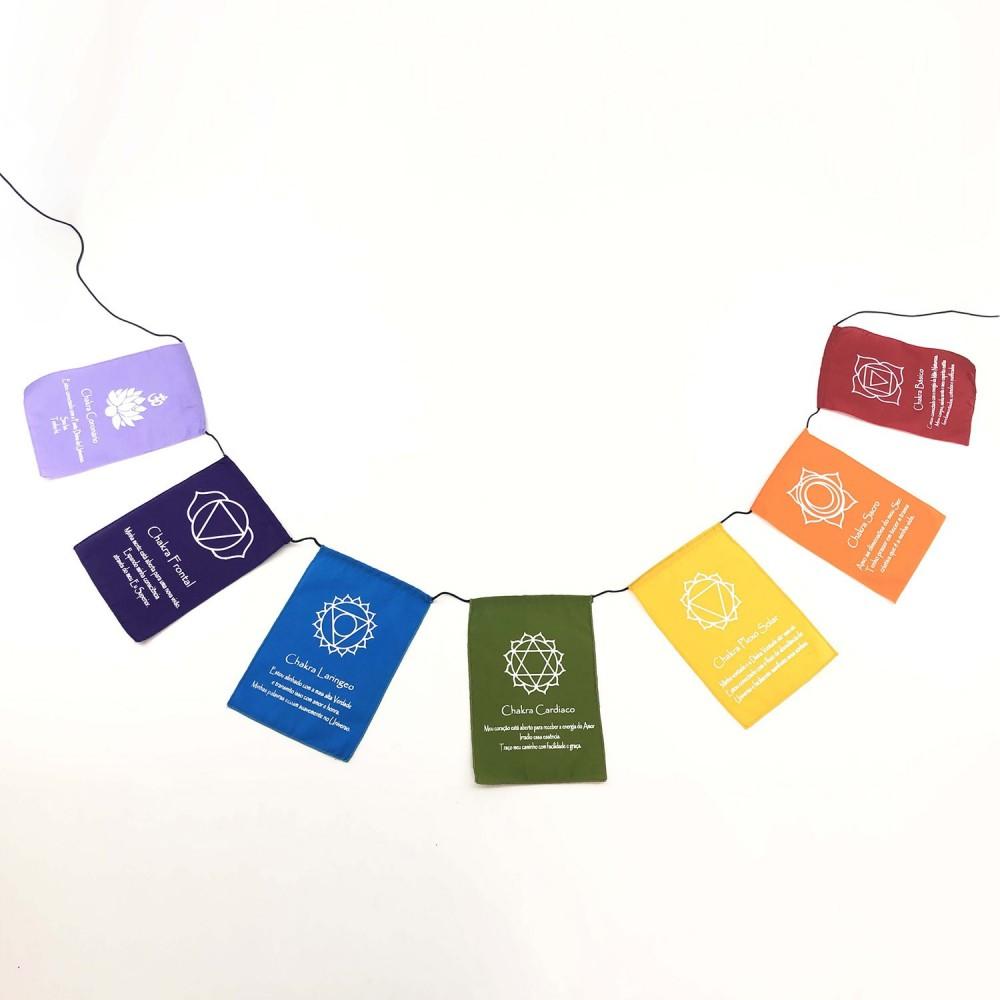 Bandeiras de Oração - Chakras - Foto 2
