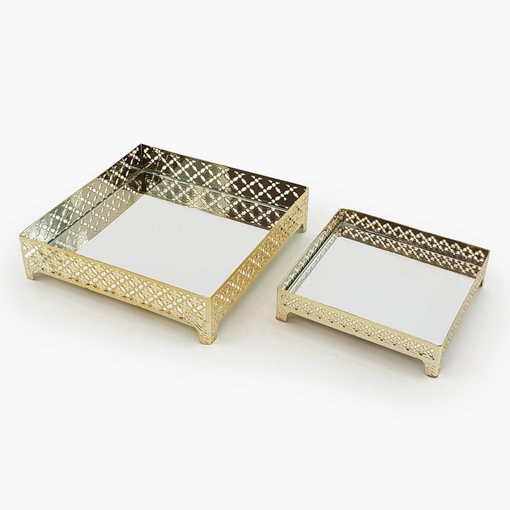 Bandeja espelhada quadrada - Foto 2