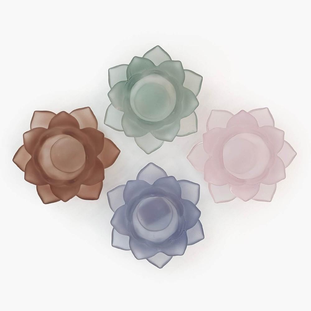 Castiçal Flor de Lótus 12x5cm - Foto 2