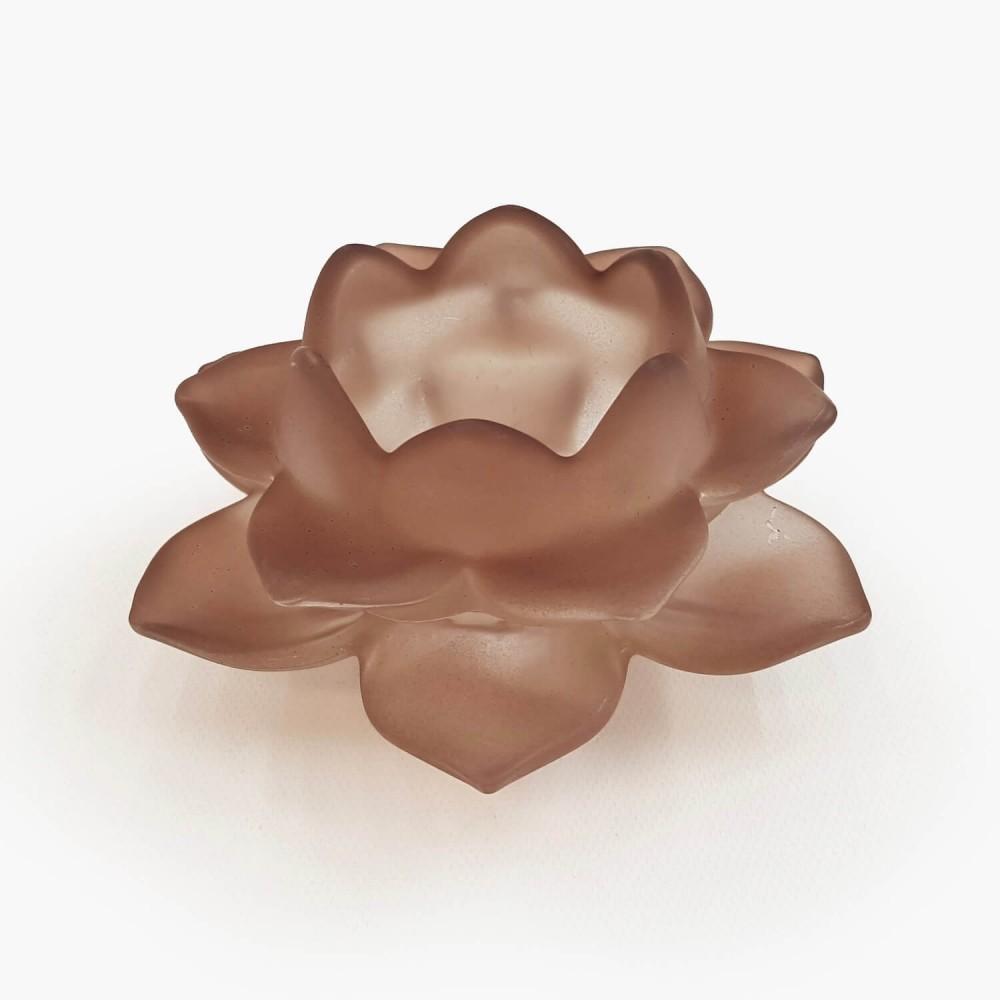 Castiçal Flor de Lótus 12x5cm - Foto 7