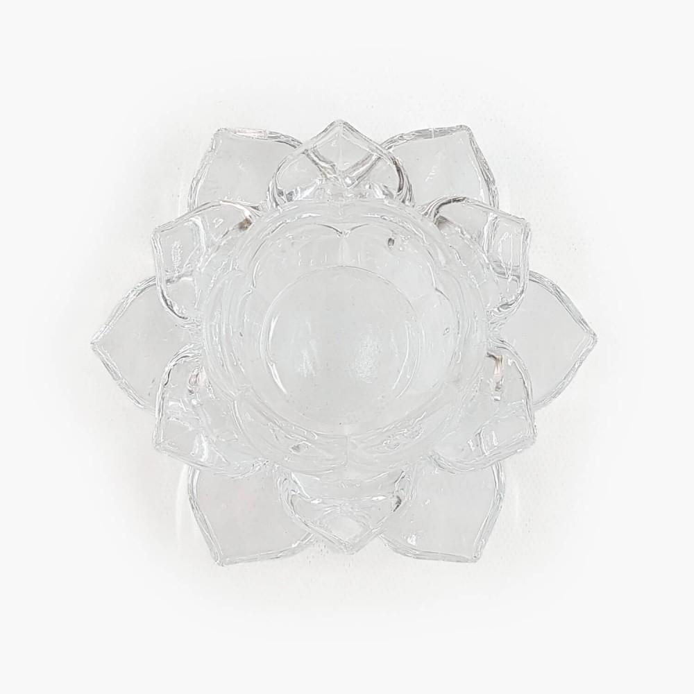 Castiçal Flor de Lótus 13x5,5cm - Foto 13