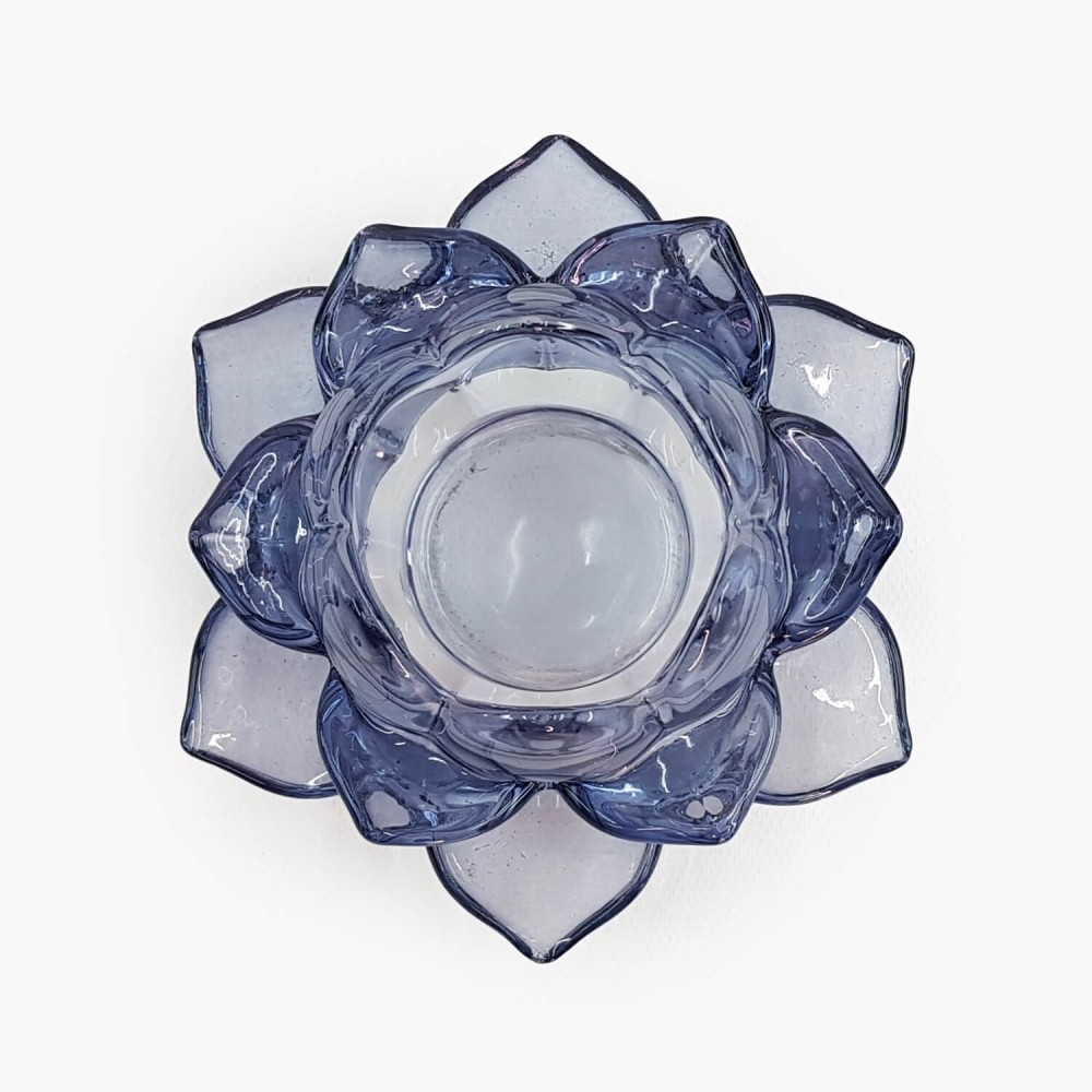 Castiçal Flor de Lótus 13x5,5cm - Foto 4