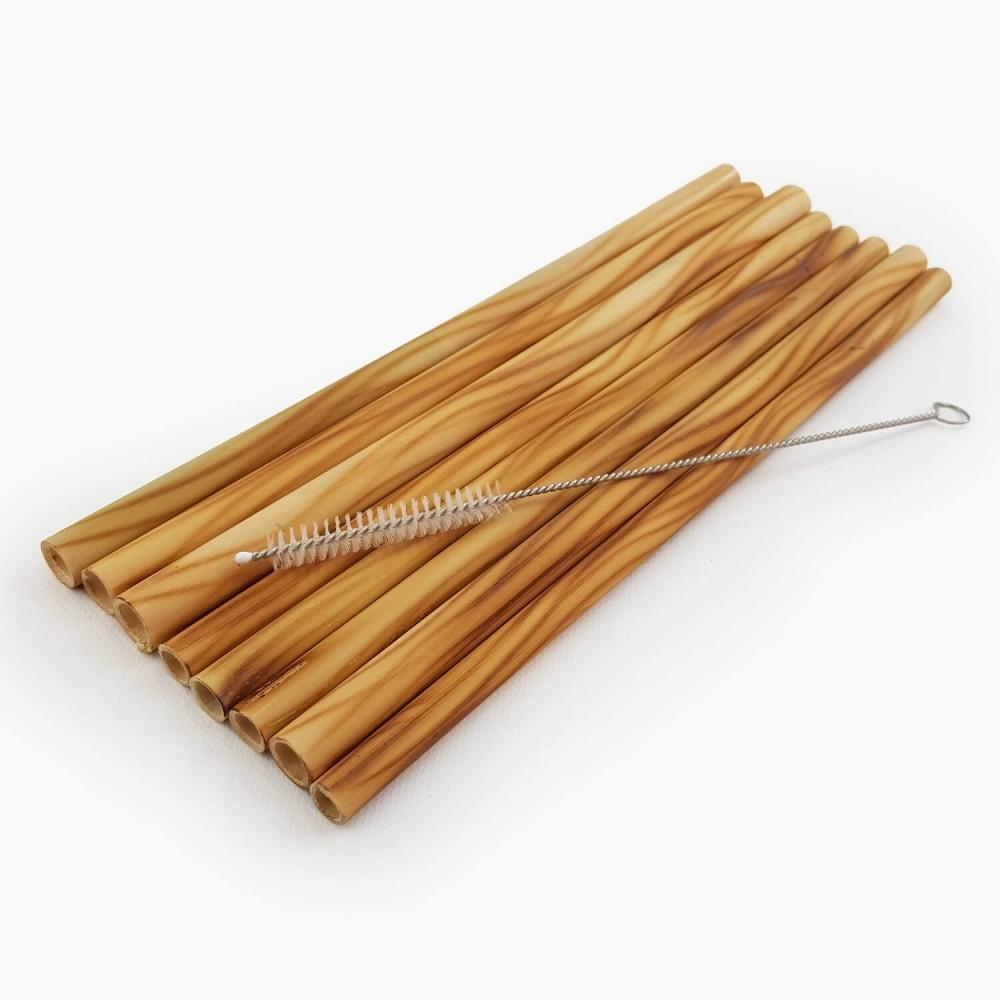 Conj. 8 Canudos Bambu + escova   - Foto 1
