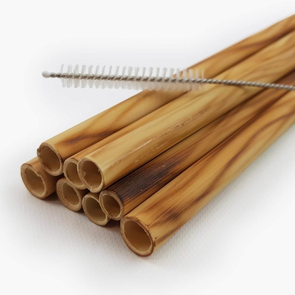 Conj. 8 Canudos Bambu + escova   - Foto 2