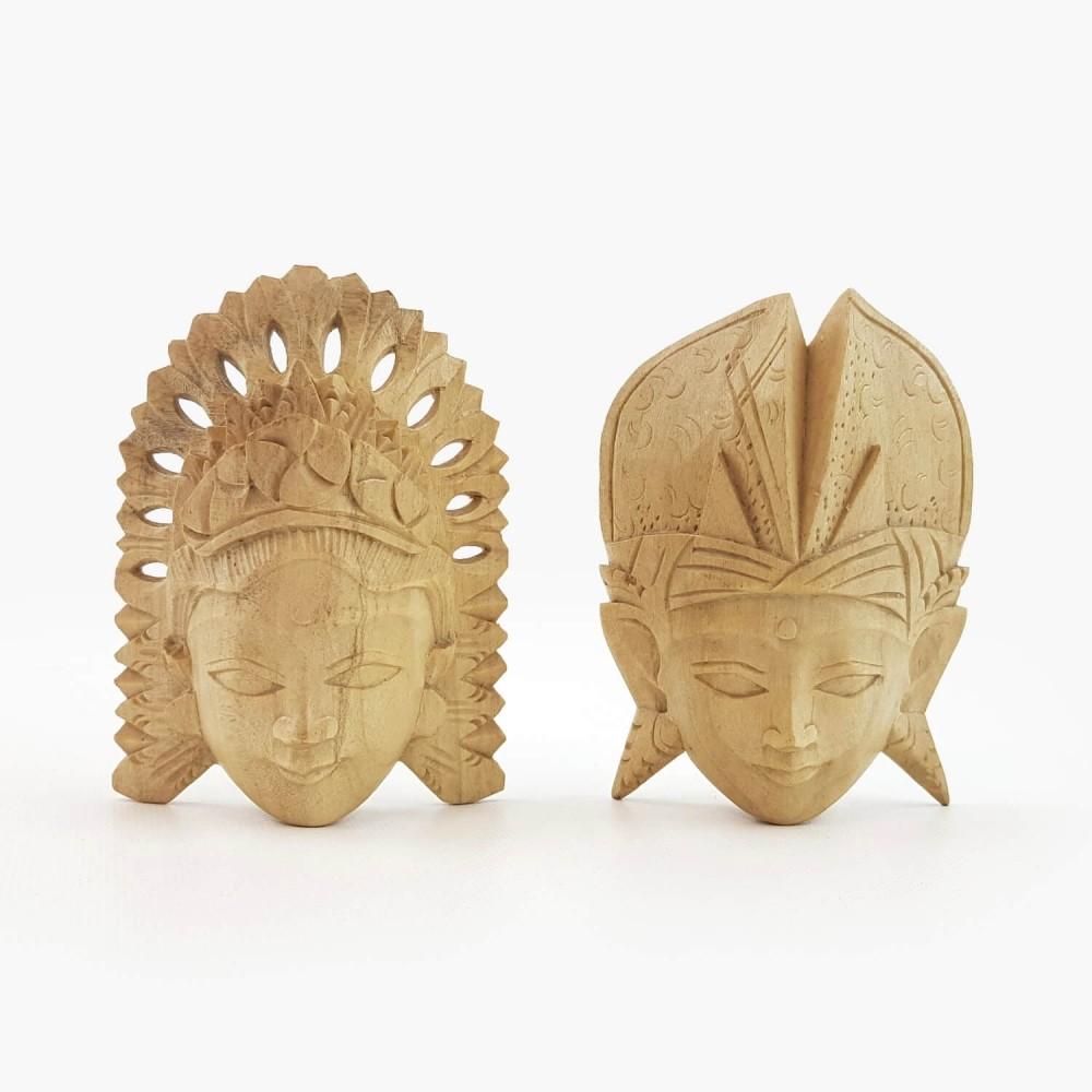 Conj. Máscaras Rama e Sita 11cm  - Foto 1