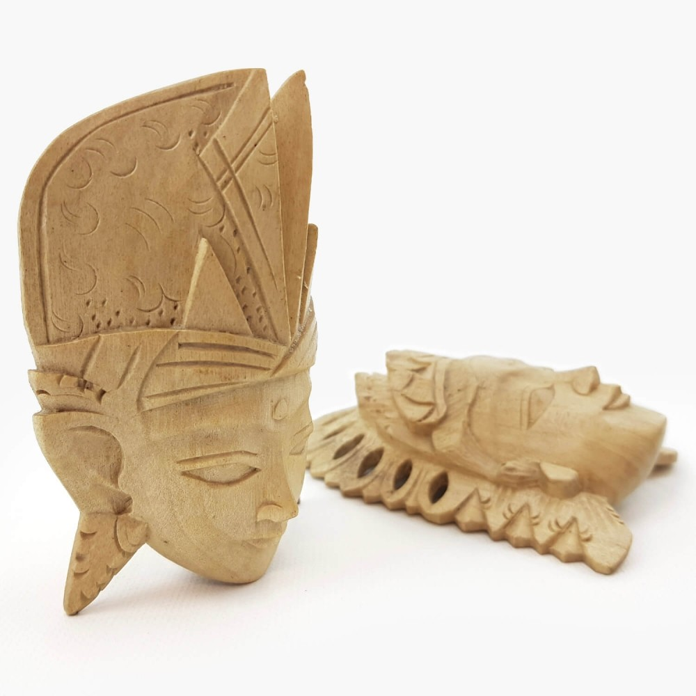Conj. Máscaras Rama e Sita 11cm - Foto 3