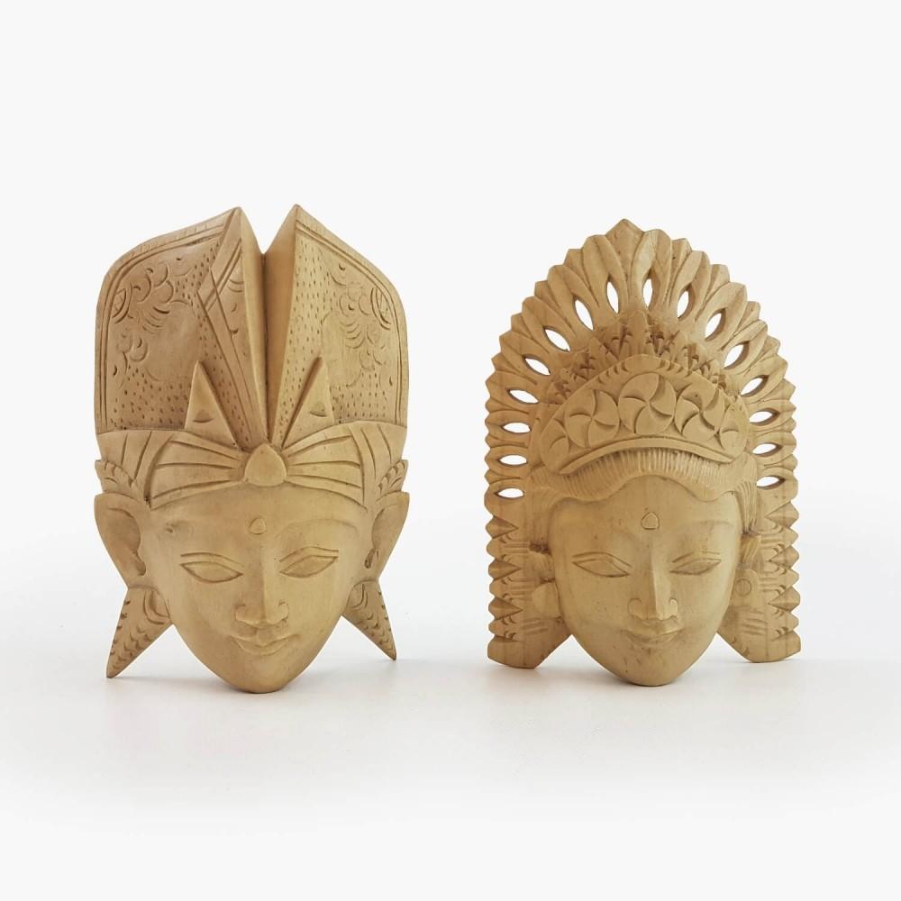 Conj. Máscaras Rama e Sita 15cm - Foto 1