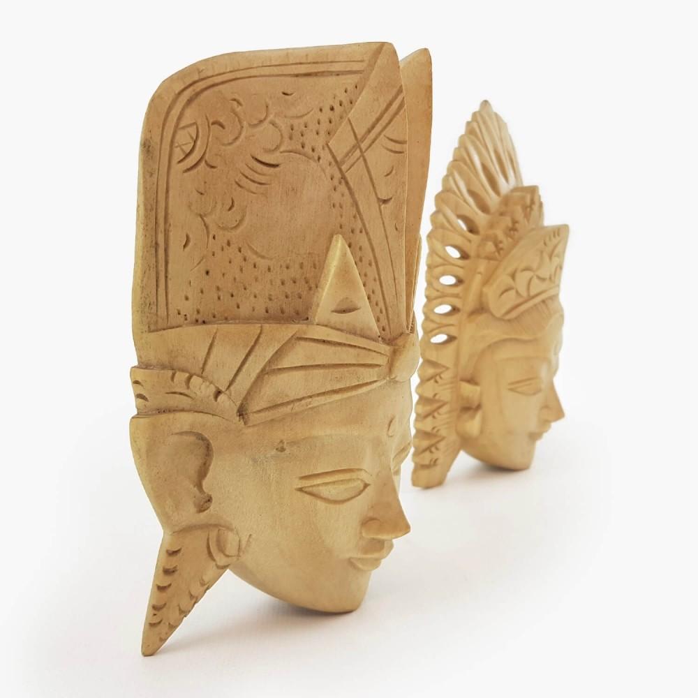 Conj. Máscaras Rama e Sita 15cm - Foto 2