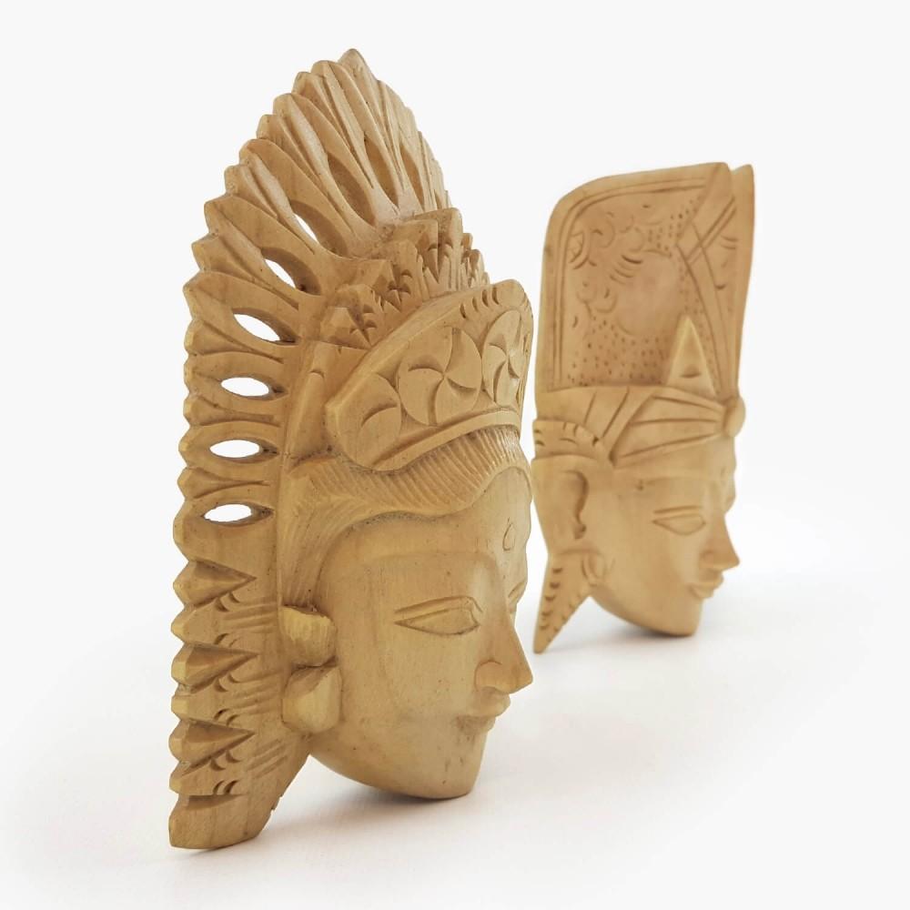 Conj. Máscaras Rama e Sita 15cm - Foto 3