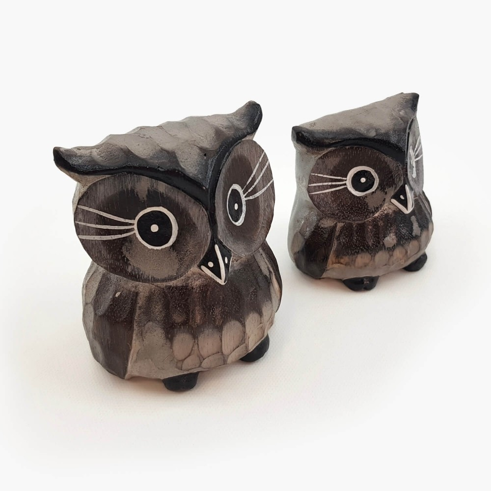 Conjunto 2 esculturas corujas  - Foto 3