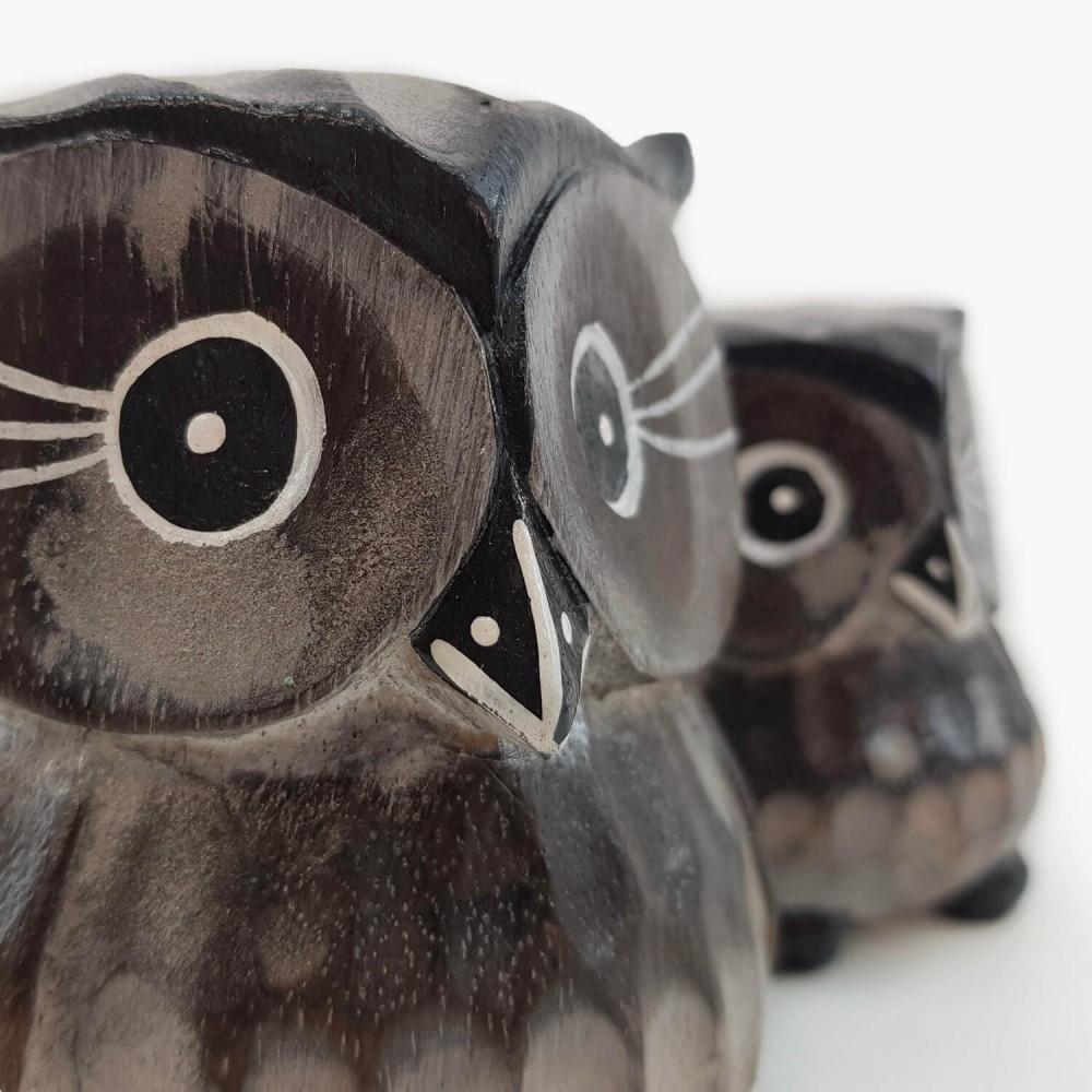 Conjunto 2 esculturas corujas  - Foto 4