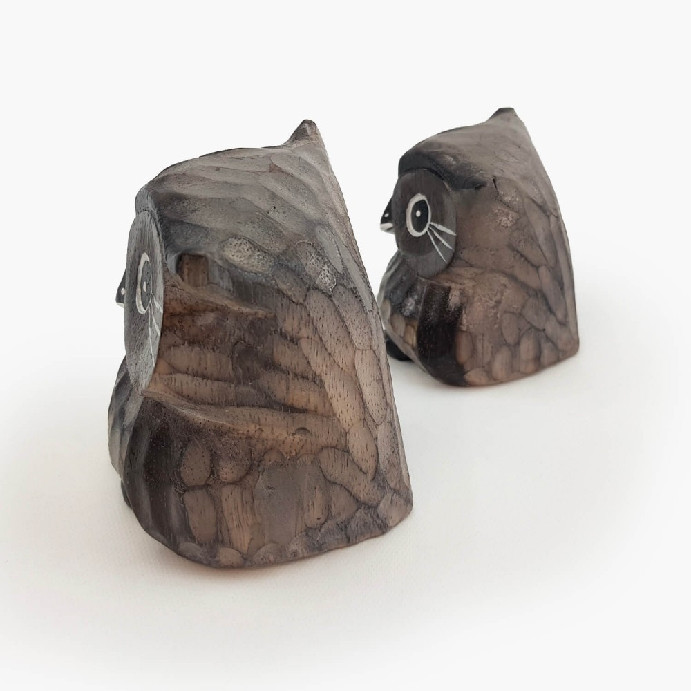 Conjunto 2 esculturas corujas  - Foto 5