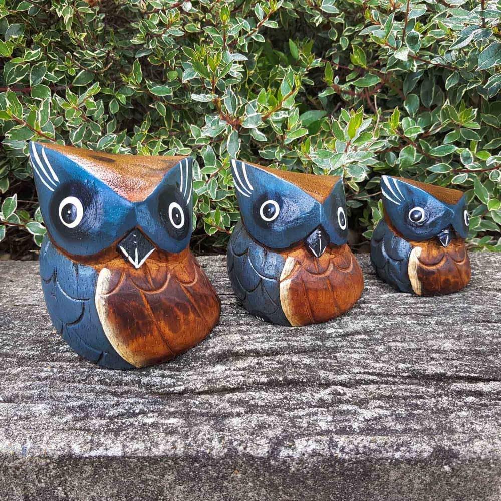 Conjunto 3 esculturas corujas - Foto 1