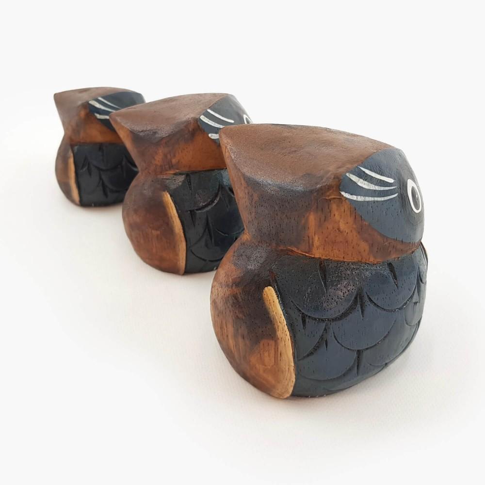 Conjunto 3 esculturas corujas - Foto 4
