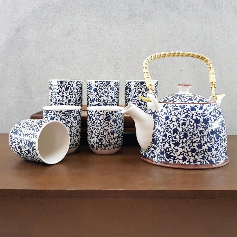 Conjunto de Chá - azul cobalto - Foto 1