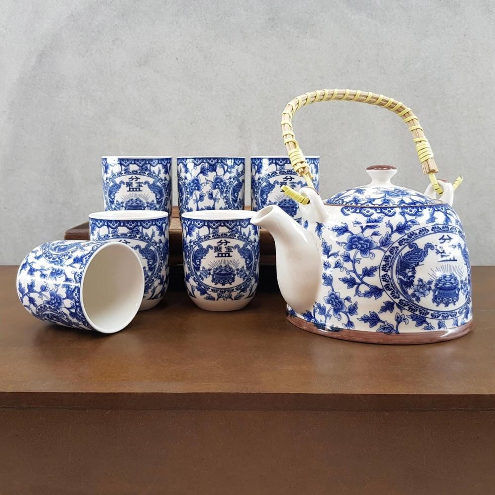 Conjunto de Chá - azul royal - Foto 1