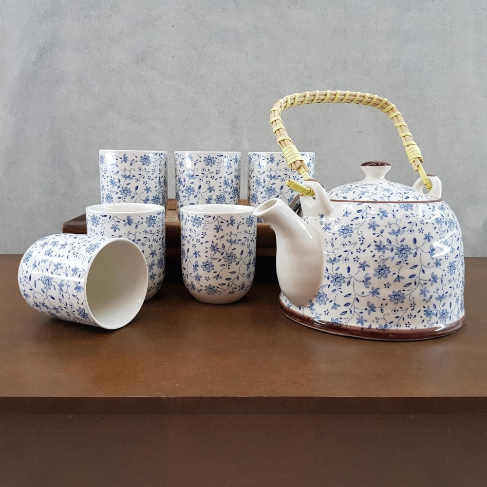 Conjunto de Chá - azul claro  - Foto 1
