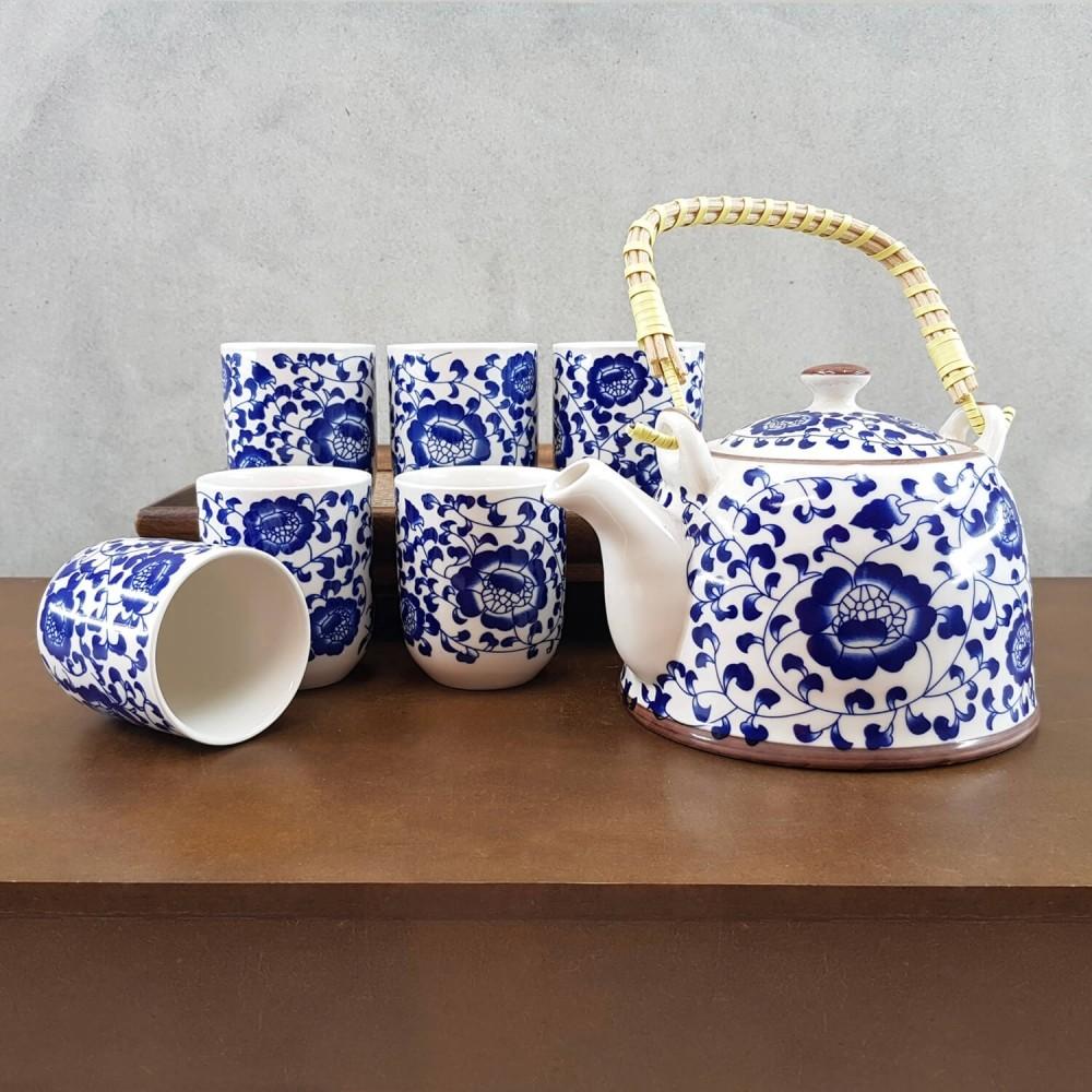Conjunto de chá - azul índigo  - Foto 1