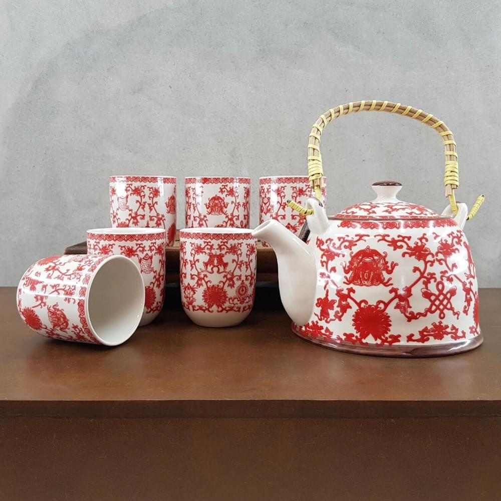Conjunto de Chá - vermelho - Foto 1