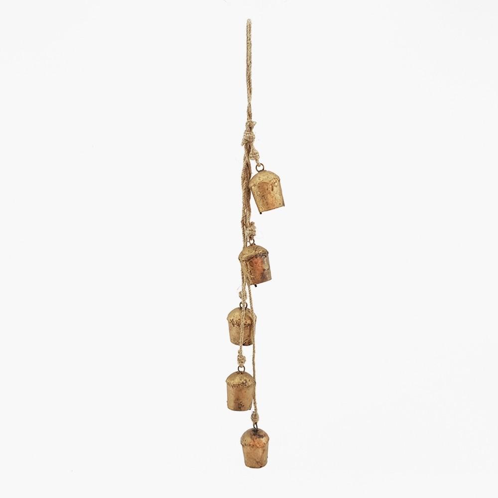 Móbile c/ sinos dourados - 55cm - Foto 2