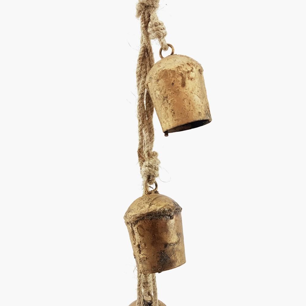 Móbile c/ sinos dourados - 55cm - Foto 1