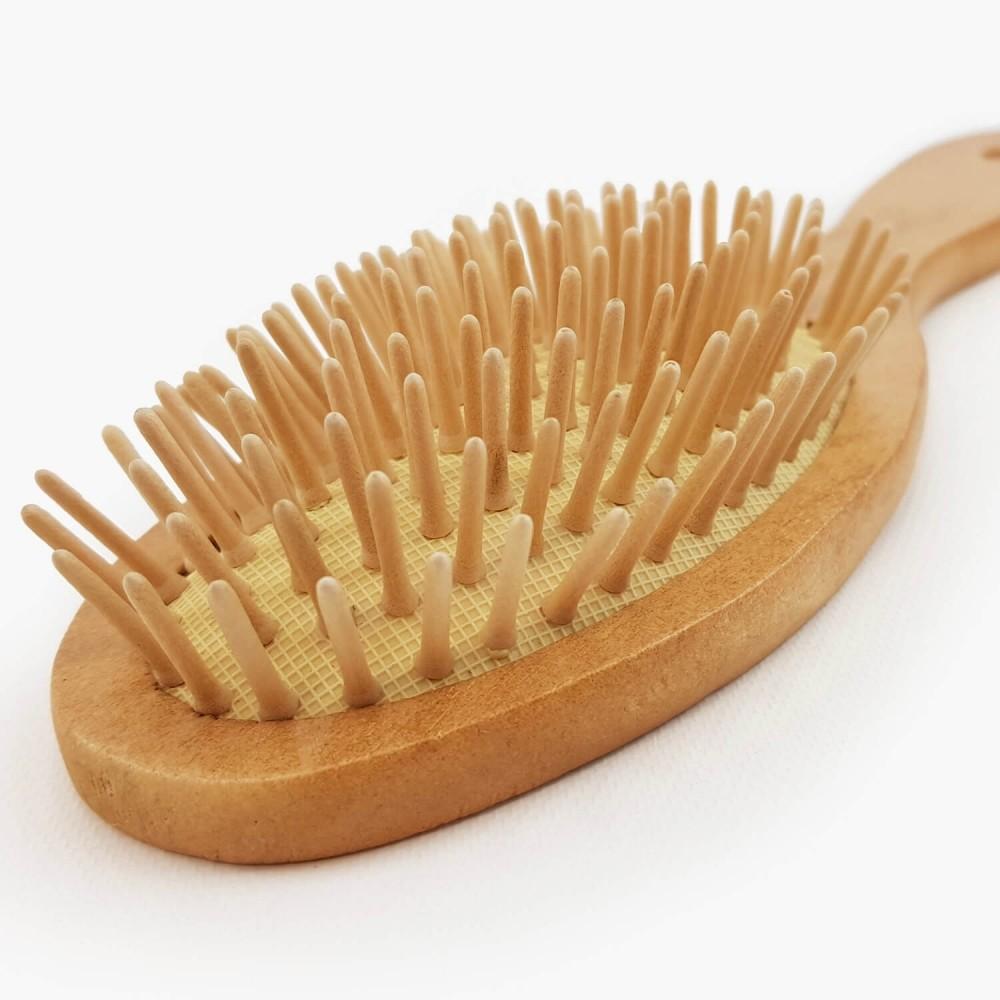 Escova de Cabelo Madeira - 23cm - Foto 2