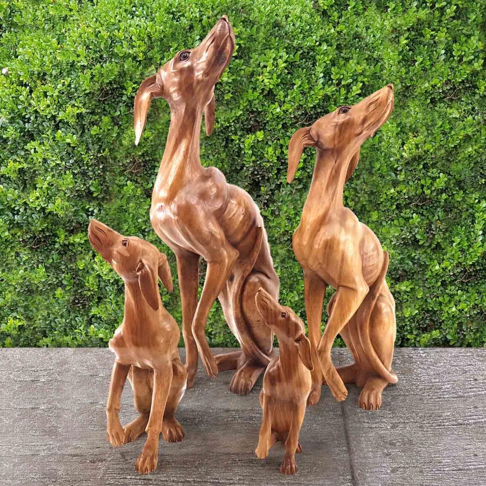 Escultura Cachorro Galgo - Foto 1