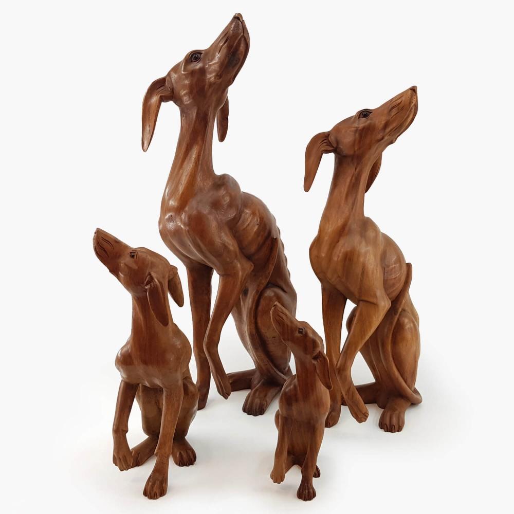 Escultura Cachorro Galgo - Foto 2